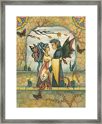 Autumn's Goodby Framed Print by Charity Dauenhauer