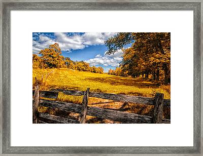 Autumns Pasture Framed Print by Bob Orsillo