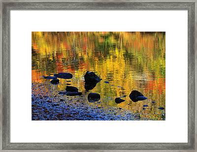Autumns Rainbow Framed Print by Karol Livote