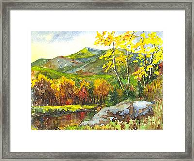 Autumn's Showpiece Framed Print by Carol Wisniewski