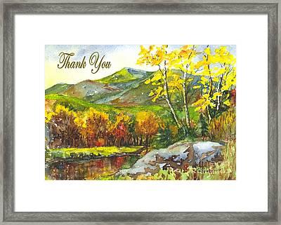 Autumns Showpiece Thank You Framed Print by Carol Wisniewski