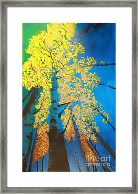 Autumns Yellow Framed Print by Dana Kern
