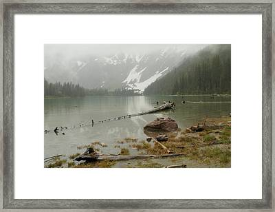 Avalanche Glacier National Park Framed Print by Jeff Swan