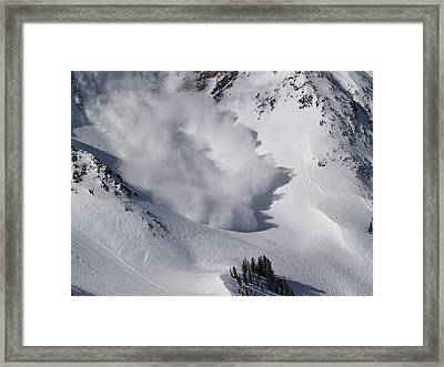 Avalanche Iv Framed Print by Bill Gallagher