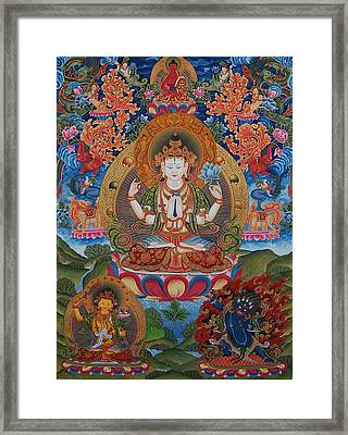 Avalokitesvara The Great Compassionate One Framed Print by Art School