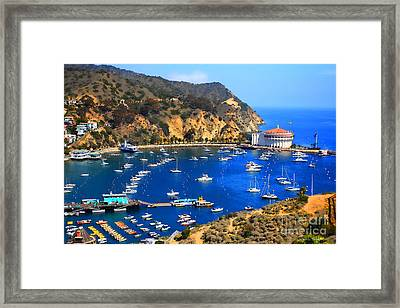 Avalon Harbor Framed Print by Cheryl Young