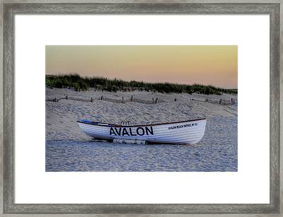 Avalon Lifeboat Framed Print by Bill Cannon
