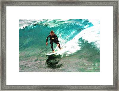 Avalono Surfer Framed Print by Avalon Fine Art Photography