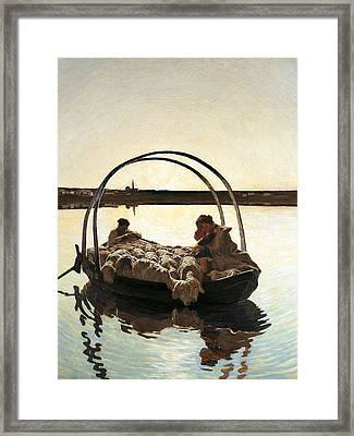 Ave Maria Framed Print by Giovanni Segantini