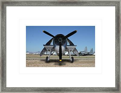 Abstract Avenger T B M Moffett Field Framed Print by Jack Pumphrey