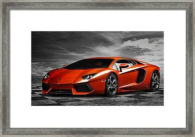 Aventador Framed Print by Peter Chilelli