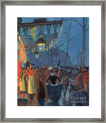 Avenue De Clichy Paris Framed Print by Louis Anquetin