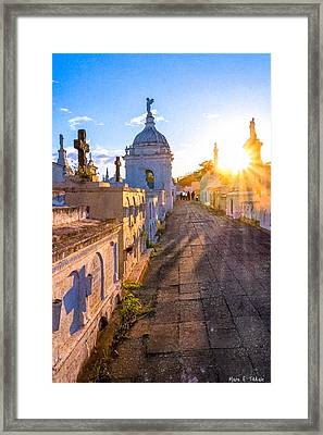Avenue Of Tombs - Granada Framed Print by Mark E Tisdale