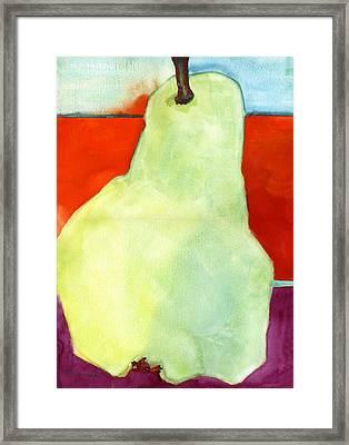 Avery Style Pear Art Framed Print by Blenda Studio