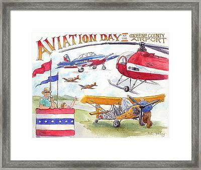 Aviation Day Framed Print by Leslie Fehling