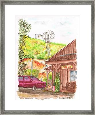 Avila Valley Farm In Avila Beach - California Framed Print by Carlos G Groppa