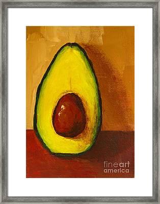 Avocado Palta 7 - Modern Art Framed Print by Patricia Awapara