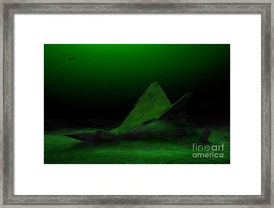 Avro Arrow In Lake Ontario Framed Print by Tom Straub