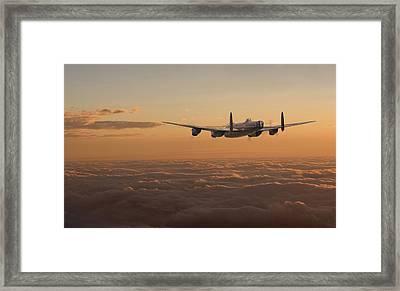 Avro Lancaster - Homeward Framed Print by Pat Speirs
