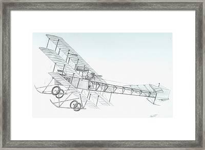 Avro Triplane Framed Print by Rick Bennett