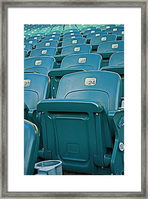 Awaiting The Crowds Framed Print by Michael Porchik