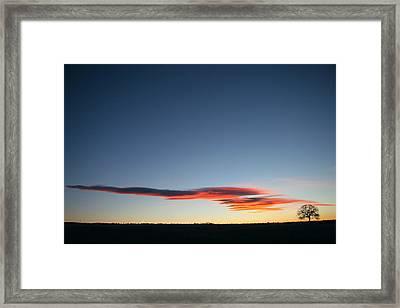 Awaiting The Sun Framed Print by Robert Woodward