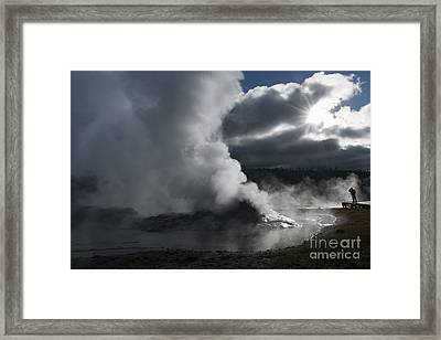 Awakening In Yellowstone Framed Print by Sandra Bronstein