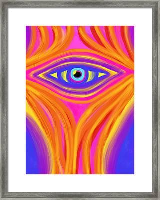 Awakening The Desert Eye Framed Print by Daina White