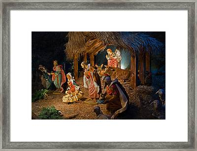 Away In The Manger  Framed Print by Susan  McMenamin