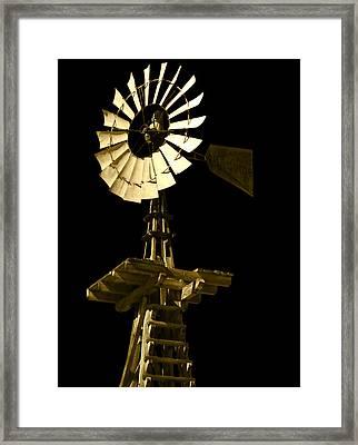 Awesome Aermotor Framed Print by Anne Mott