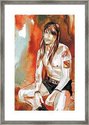 Axl Rose Portrait.4 Framed Print by Fabrizio Cassetta