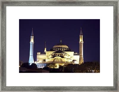 Aya Sophia In Istanbul Turkey Framed Print by Raimond Klavins