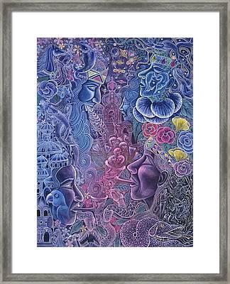 Ayari Warmi Framed Print by Pablo Amaringo