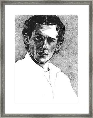 Ayrton Senna Framed Print by Diane Fine