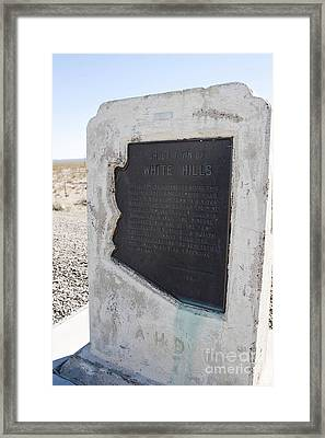Az093-028 Ghost Town Of White Hills Framed Print by Jason O Watson