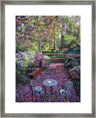 Azaleas And Cherry Blossoms Framed Print by David Lloyd Glover