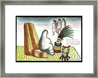Aztec Burial Ritual Framed Print by Library Of Congress