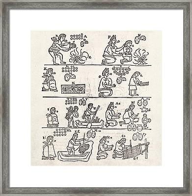 Aztec Customs Framed Print by Middle Temple Library