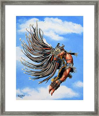 Aztec Warrior Framed Print by Ruben Duran