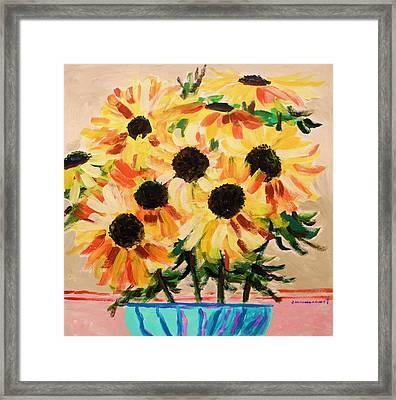 Azure Vase Framed Print by John Williams