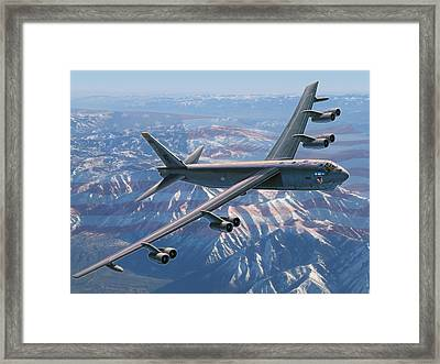 B-52 Stratofortress  America's Backbone Framed Print by Stu Shepherd