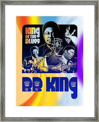 B. B. King Poster Art Framed Print by Robert Korhonen