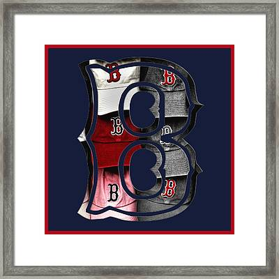 B For Bosox - Boston Red Sox Framed Print by Joann Vitali