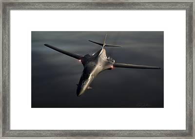 B1-b Lancer Framed Print by Peter Chilelli