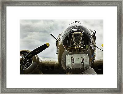 B17 Bomber Form Ww II Framed Print by M K  Miller
