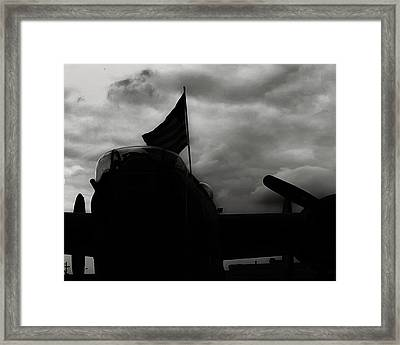 B17 Flying Fortress In Black And White Framed Print by M K  Miller