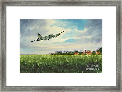 B17 Over Norfolk England Framed Print by Bill Holkham