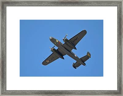 B25 Mitchell Wwii Bomber On 70th Anniversary Of Doolittle Raid Over Florida 21 April 2013 Framed Print by Jeff at JSJ Photography