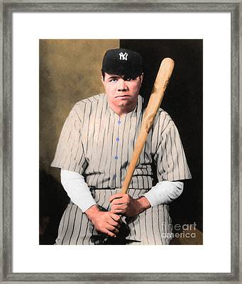 Babe Ruth 20141220 V1 Framed Print by Wingsdomain Art and Photography