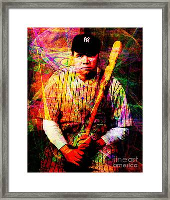 Babe Ruth 20141220 V2 Framed Print by Wingsdomain Art and Photography